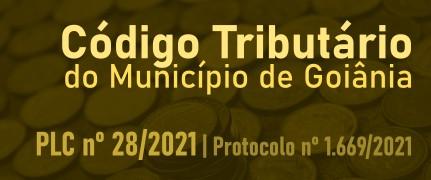 Banner sobre PLC do Código Tributário de Goiânia