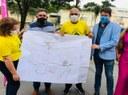 Anderson Sales e Rogério Cruz visitam obra de Centro Esportivo