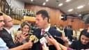 Andrey Azeredo fala à imprensa sobre o concurso da Câmara, contratação de estagiários, melhorias na Casa e leis eleitorais