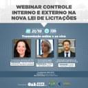 Câmara de Goiânia e Escola Superior de Advocacia realizam 2° webinar sobre nova Lei de Licitações