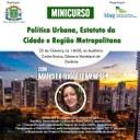 Câmara realiza minicurso sobre Política Urbana com a professora Marcela Ruggeri