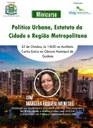 Câmara realiza minicurso sobre Política Urbana, Estatuto da Cidade e Região Metropolitana