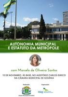 Câmara realiza seminário aberto sobre Autonomia Municipal e Estatuto da Metrópole em 10 de novembro