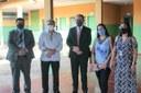 Isaías Ribeiro e  Secretário Municipal de Educação, Wellington Bessa, visitam escola em Goiânia