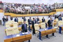 Na reabertura dos trabalhos legislativos, Câmara empossa cinco novos vereadores