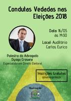 Palestra sobre as regras nas eleições 2018 é na próxima semana