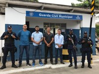 Policarpo visita base da Guarda Civil Municipal de Salvador