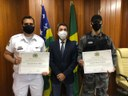Policiais militares recebem Moção de Aplauso concedida por Cabo Senna