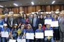 Por iniciativa de Policarpo, Câmara faz Moção de Aplausos a alunos do Sesi Vila Canaã