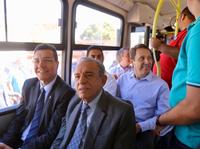 Presidente da Câmara participa do lançamento da primeira das seis novas linhas de ônibus para Goiânia