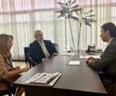 Presidente da Câmara recebe a defensora pública-geral do Estado de Goiás