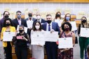 Sessão na Câmara homenageia professores que se destacaram no enfrentamento das dificuldades impostas pela pandemia