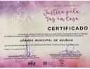 Tribunal de Justiça concede à Câmara certificado de Instituição Amiga da Mulher