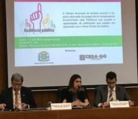 Vereadores participam de audiência no CREA sobre Alvará de Regularização
